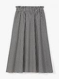 mini gingham midi skirt, , s7productThumbnail