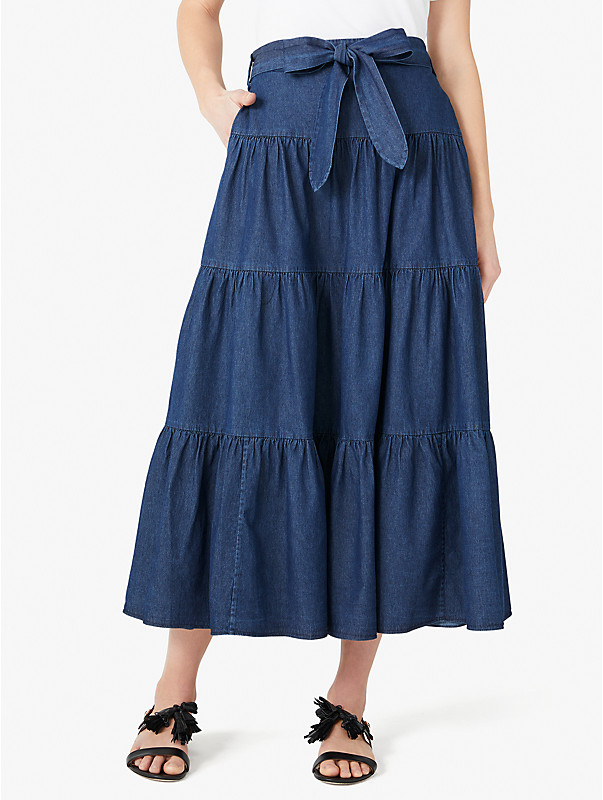 chambray tiered skirt, , rr_large