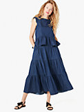 chambray tiered skirt, , s7productThumbnail