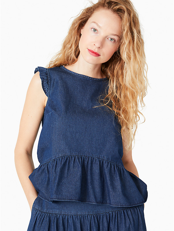 chambray flounce top, , rr_large