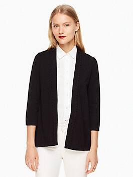 open cardigan, black, medium