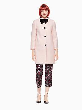 bow tweed coat, rose dew, medium