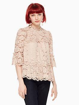 poppy lace top, amaretto, medium