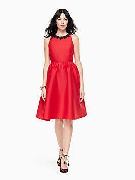 poppy embellished dress, charm red, medium
