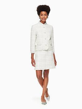 sparkle tweed jacket, cream, medium
