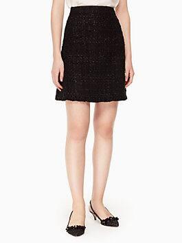 sparkle tweed skirt, black, medium