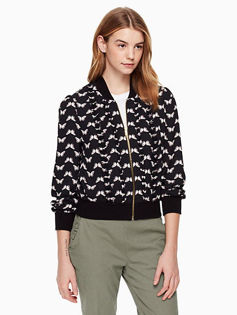 butterfly bomber jacket by kate spade new york