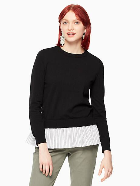 mixed media sweater by kate spade new york