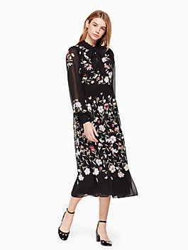 floria dress, black, medium