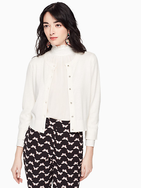 Jewel button cropped cardigan | Kate Spade New York