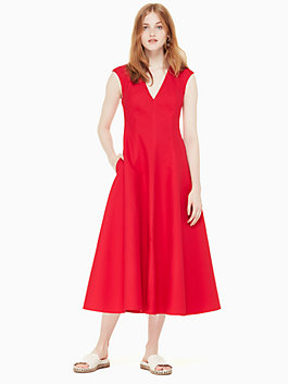 structured midi dress, lingonberry, medium