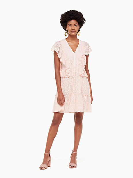 by the pool embroidered chiffon dress by kate spade new york