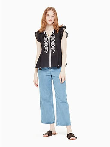 mosaic embroidered tassel top, , rr_productgrid
