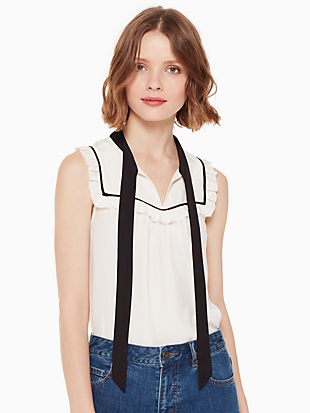 tie neck shell by kate spade new york non-hover view