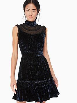 leopard-print velvet lace dress, light adriatic blue, medium