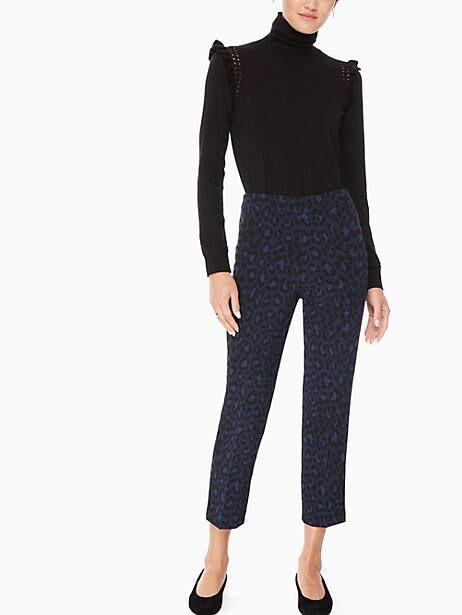 leopard-print pant by kate spade new york