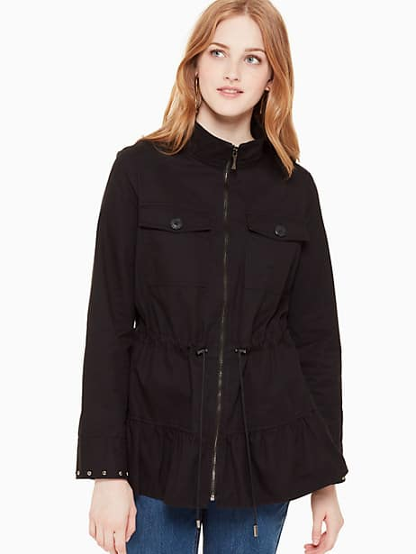stud embellished twill jacket by kate spade new york