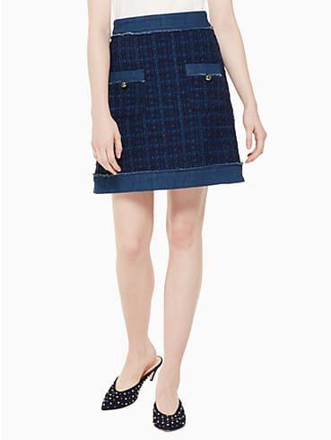 denim tweed skirt, , rr_productgrid