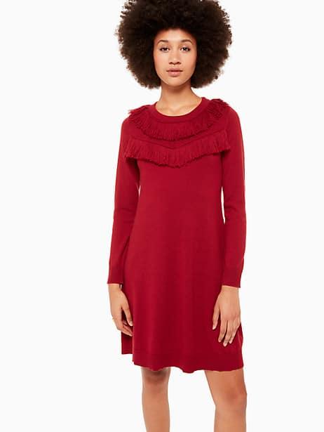 fringe sweater dress by kate spade new york