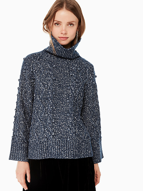 chunky cable sweater by kate spade new york