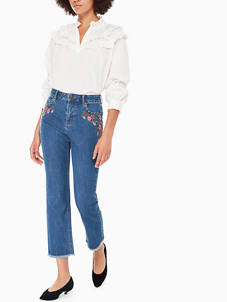 embroidered denim by kate spade new york