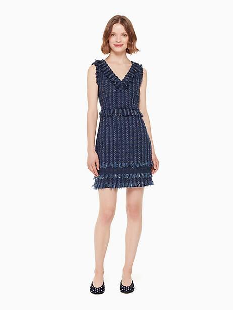 jasmeen dress, indigo multi, large by kate spade new york