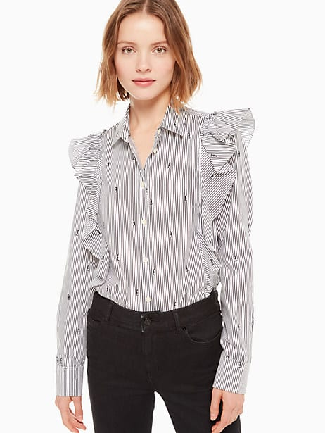 mini penguin ruffle shirt by kate spade new york
