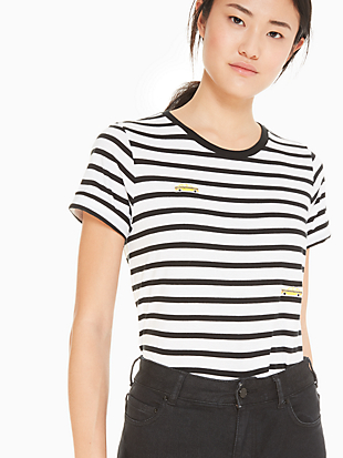 tiny taxi stripe tee by kate spade new york non-hover view