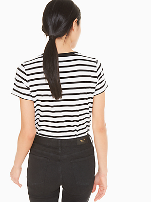tiny taxi stripe tee by kate spade new york hover view