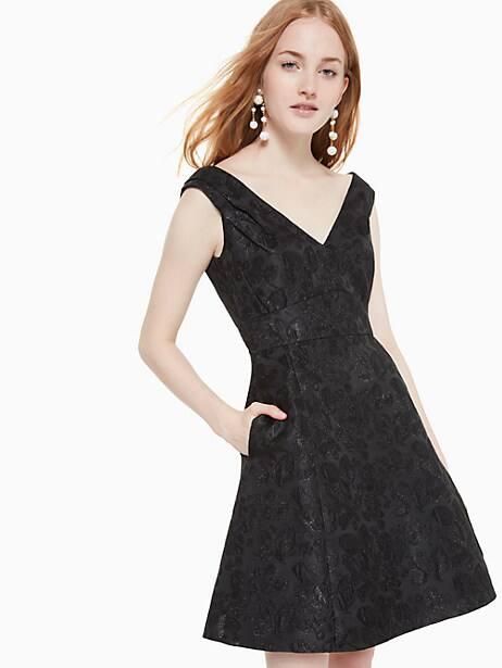 Metallic jacquard dress | Kate Spade New York