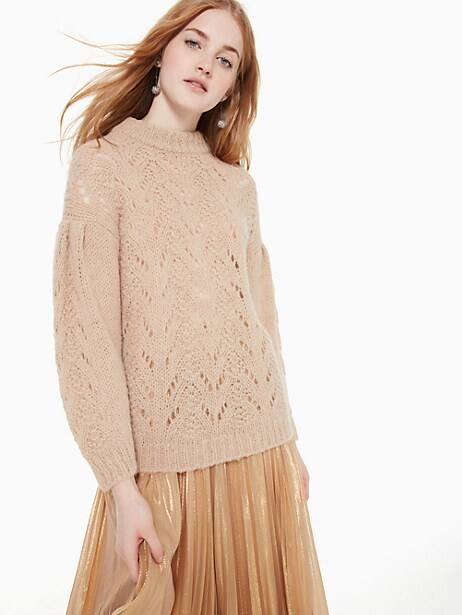 pointelle stitch sweater by kate spade new york