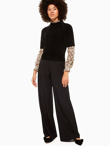 metallic texture sweater by kate spade new york