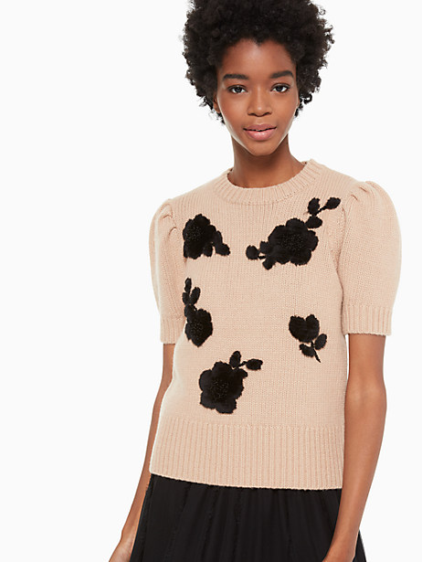 floral applique sweater by kate spade new york