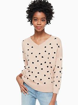 heartbeat sweater, roasted peanut, medium