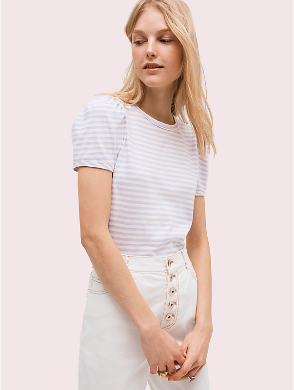 stripe puff sleeve tee, , rr_large