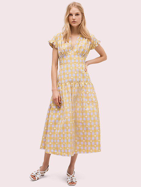 gingham spade tie-back dress by kate spade new york