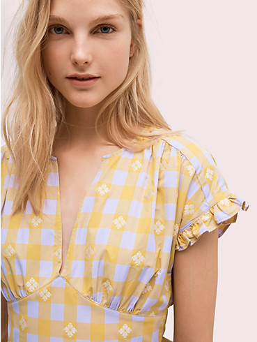 gingham spade tie-back dress, , rr_productgrid