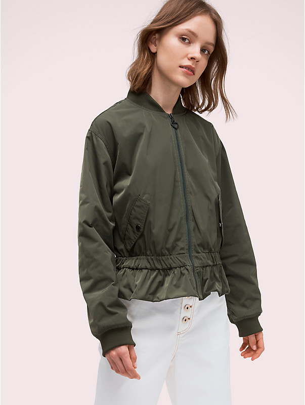 twill flounce bomber, , rr_large