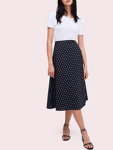 dot cotton midi skirt, , rr_productgrid