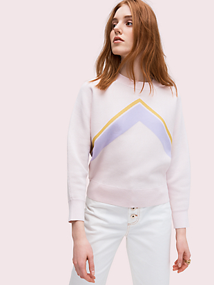 graphic intarsia sweater by kate spade new york non-hover view