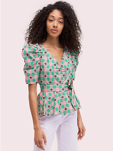 gingham spade blouse, , rr_productgrid