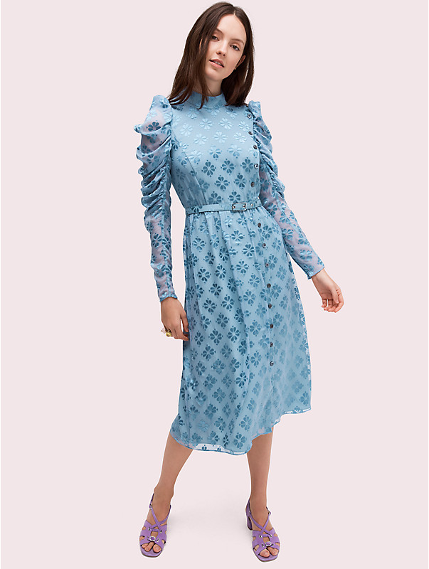 spade flower devore dress, , rr_large