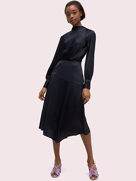 Silk open-back blouse   Kate Spade New York