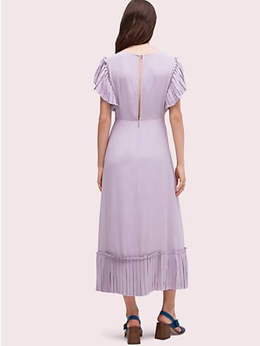 pleated crepe dress, , rr_productgrid