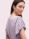 pleated crepe dress, , s7productThumbnail