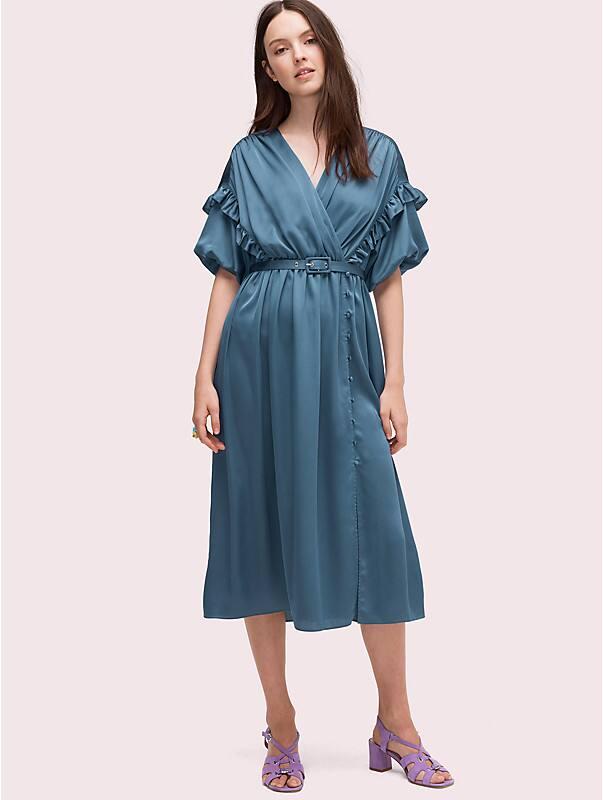 satin midi dress, , rr_large
