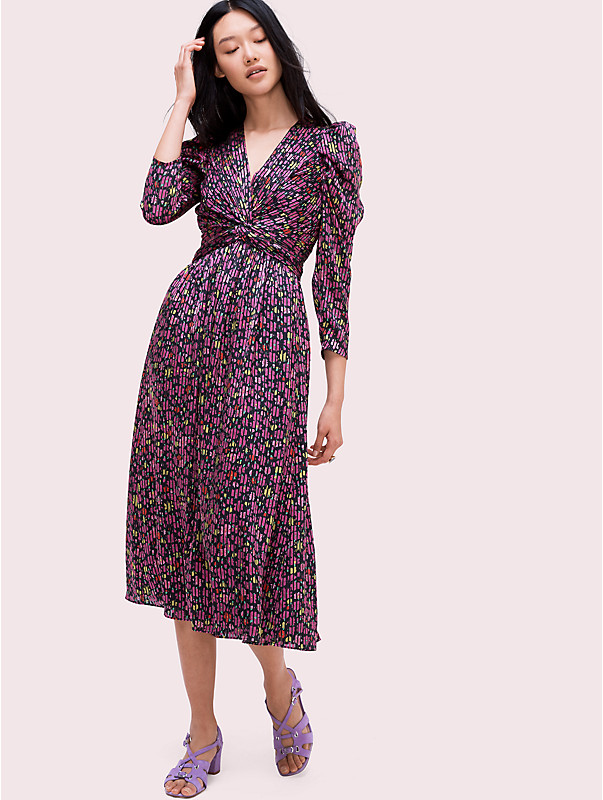 marker floral devore dress, , rr_large