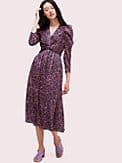 Devoré-Kleid mit Textmarker-Blumenmuster, , s7productThumbnail