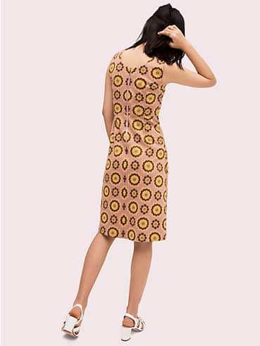geo floral jacquard dress, , rr_productgrid