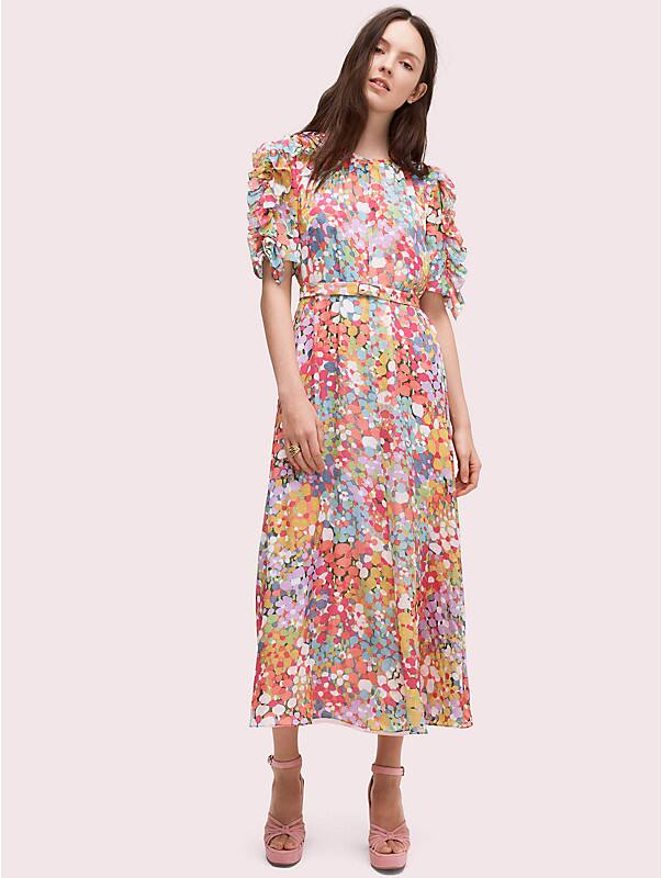 floral dots ruffle midi dress, , rr_large